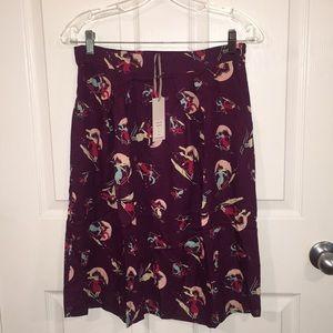 Emily & Fin Skirts - Modcloth Ski Print Retro Reverie A-Line Skirt